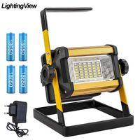 Trabalho Lâmpada portátil Mão Spotlight LED Luz de trabalho recarregável Pesquisa Luz ao ar livre da emergência para Camping Caminhadas