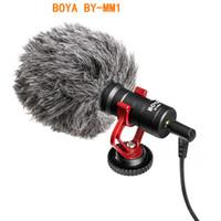 BOYA BY-MM1 ميكروفون على الكاميرا تسجيل الفيديو هيئة التصنيع العسكري Microfone لXIAOMI DJI أوسمو الجيب DSLR كاميرا سوني فون