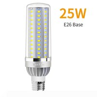 السلطة العليا الخفيفة الذرة E27 LED مصباح 25W 35W 50W لمبة شمعة 110V E26 LED لمبة الألومنيوم مروحة التبريد لا الرجفة الخفيفة 2835.