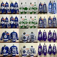 Rbk jerseys feitos sob encomenda dos homens toronto folhas de toronto jerseys 17 wendel clark gilmour zach personalizar qualquer número qualquer nome de hóquei jersey