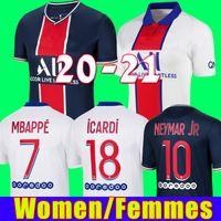 Maillots de football kits 20 21 soccer jersey 2020 2021 MBAPPE ICARDI NEYMAR shirt JR women sets uniform femmes maillot de foot girl shirts