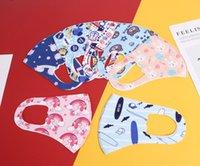 Les enfants de glace soie visage masque Masque de protection impression anti-poussière respirante anti-brouillard enfants rewashable dessin animé XD23694 masque