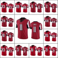 """Atlanta """"Falcons"""" Männer # 18 Ridley 11 Julio Jones 2 Matt Ryan 21 Gurley Frauen Jugend rot Dampf Unberührbarer Limited Jersey"""