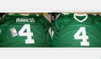 Benutzerdefinierte Männer Jugend Frauen Vintage Michigan State Spartans Plaxico Burress # 4 Fußball-Jersey-Größe s-5XL oder benutzerdefinierten beliebigen Namen oder Nummer Jersey