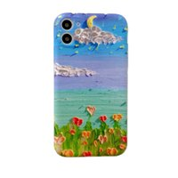 Retro Landscape Oil Painting Flowers Phone Case For iPhone 1...