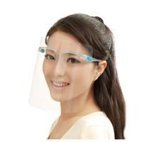 Máscara transparente Segurança Faceshield Máscara protectora da Escudo PET de plástico claro reutilizável Anti respingo Fog protecção protetor facial Máscaras OOA8248
