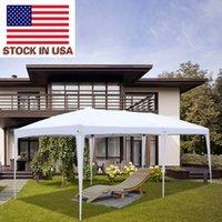 US Allo stock Assistenti Tempo libero Spiaggia barbecue Giardino da giardino Tenda da sole Tende 3 x 6m Due finestre Pratica tenda pieghevole impermeabile Tenda di alta qualità pergola