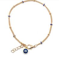 BLICK neue Art und Weise goldene Legierung Armband für Mädchen Schmuck 4 Farben Korn der schlechten Auges Charmekettenarmband bestes Geschenk für Liebhaber