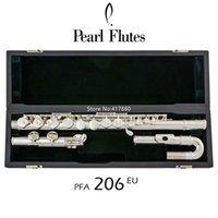 Venta caliente perla Flauta PFA-206EU G Tune 16 Closed Hole Claves plateada astilla con el envío libre de caso