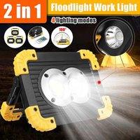 Lanterne portatili 500 liums Spotlight LED Spotlight Light USB ricaricabile 100W All'aperto per la caccia Camping 18650 Batteria