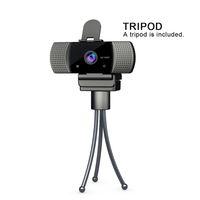 HD Webcam Web Camera 30 FPS 1920 * 1080 PC Camera Built-in som de absorção de microfone USB 2.0 Gravar vídeo para computador para PC portátil
