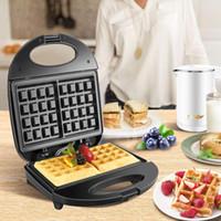 750W Elektrikli Waffle Makinası Demir Tost Makinesi Makinesi Kabarcık Yumurta Kek Fırın Kahvaltı Waffle Makinesi 220V