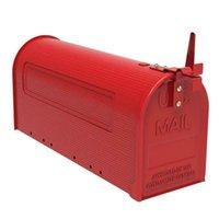 Ekstra büyük kapasiteli demir post mount posta kutusu açık mektup depolama kırsal tarzı
