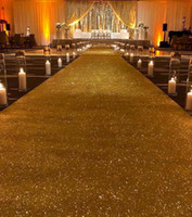 1.2 m de ancho x 10 m / rollo impresionante decoración oro lentejuelas brillo alfombra pasillo corredor para suministros de boda Navidad Decoración de acción de gracias a la boda caminar