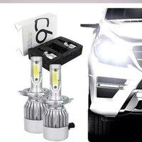 Nouvelle 1pair C6 phare de voiture 12V 7600LM 6000k H4 H7 9003 H11 LED H1 H3 880 9005 9006 H13 9004 9007 Lampes de voiture