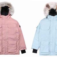 ceket aşağı% 90 kat aşağı rüzgar ve su geçirmez moda gerçek kurt kürk ceket açık Kış Coat Yeni Ceket erkek sıcak ceket