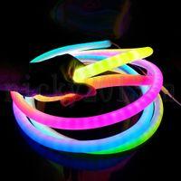 12 V 5m WS2811 Addreable 5050 RGB LED Pixel Neon Tube Flexibe Strip Light 360 Round 300LEDS PVC IP67 Impermeabile Magic Colore Cambia il segno