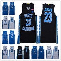 NCAA North Carolina 23 Michael J 15 Vince Carter 2 Cole Anthony College Basketball Tutti cucito e ricamo Uomini Gioventù