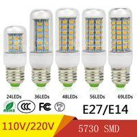 SMD5730 E27 GU10 В22 Е14 G9 светодиодная лампа 7W 12W 15W 18W 20W 220V 110V 360 Угол SMD светодиодные лампы светодиодные Кукуруза света