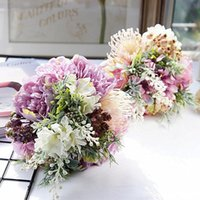1 Bundle Combinação Wedding Bouquet noiva dama de honra Segurar Flores artificiais Flores Household Home Decor Scrapbook