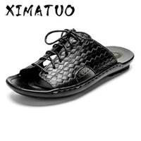 Summer Men' s Sandals Soft Leather Casual Shoes Comforta...