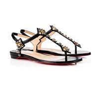 New Summer Lofty Flat Leather Sandals Sandals Open Toe Scherked Nero Nuede Pelle, Cool Strap della caviglia Donne Delle Donne da sposa Vestito da sposa 35-43