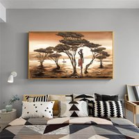 Canvas Painting Wall Posters and Prints Nordic Style Tree HD Wall Art Pictures For Living Room Decoration Dining Restaurant Hotel Home Decor