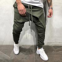 Uomini rigonfio Harem Pants Hip hop Croce pantaloni jogging causali slacciano i pantaloni a matita Pantaloni Hombre Plus Size M-3XL