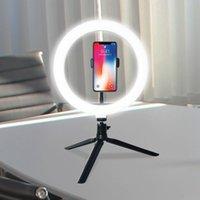 """10"""" LED Luz del anillo fotográfico selfie anillo de iluminación con soporte para Smartphone anillo de luz facturan con el trípode para el vidoe streamiing vivo reacord Vendido"""