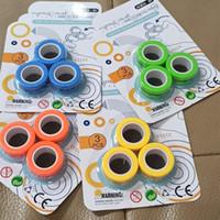 Anneaux magnétiques à doigts anti-stress pour l'autisme ADHD Anxiety Siety Focus Focus Enfants Décompression Decompression Decompression Toys Magic Bague PROPS Outil