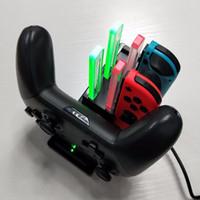 İskeleye Anahtarı Joy-con ve Pro Controller ücretsiz nakliye için İstasyonunu Standı Şarj Nintendo Anahtarı için Kontrolör Şarj Cihazı,