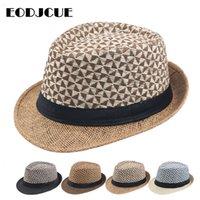 2020 도매 여름 재즈 캡 비치 스트로 남성 파나마 태양 모자 남성 여성 페도라 모자 캡