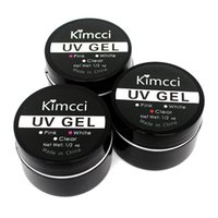 Tırnak Jel KIMCCI 1 ADET Temizle / Şeffaf / Pembe / Beyaz Uzatma Araçları Manikür UV Oluşturucu Sanat Poli
