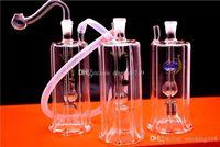 """Последние стиль автоматические многоцветные светодиодные световые бонги толстые DAB буровые бонги уникальные мини 5 """"дюймовые рециркуляторы нефтяные стекла курение воды бонг"""