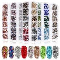 Nuevo Rhinestones de uñas de estilo múltiple 3D Crystal AB Clear Nail Stones Gems Pearl DIY Nail Art Decorations Dorado plata Riestone Rhinestone