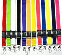 12 couleurs Universal Longe Blank Disponible carte ID cou sangle pour téléphone cellulaire mobile Chaîne Porte-clés DHL lanière