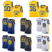 30 Stephen.Curry 35 Kevin.Durant goldenZustandKriegerMänner Swingman Basketball-Jersey-SymbolEdition Royal.