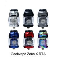 Geekvape Zeus X RTA 4.5ml Capacidade do tanque com uma única bobina dupla Desenvolver plataforma 25 milímetros RTA Atomizador top-a-lado o fluxo de ar à prova de fugas condição