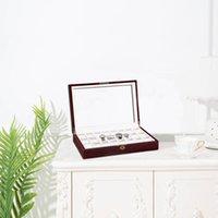 Creative Case Gabinet Glass Gyro Prezent Watch Box Biżuteria Przechowywanie Wyświetlacz drewniane pudełka