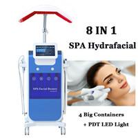 8 in 1 Diamant microdermabrasion Schönheitsmaschine Sauerstoff Sauerstoff Hautpflege Wasser Aqua Dermabrasion Peeling HydroFacial SPA-Ausrüstung