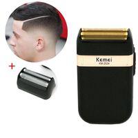 Электрическая бритва для мужчин Двухместный лезвие водонепроницаемый возвратно-поступательный беспроводной бритвой USB аккумуляторная бритвенная машина парикмахерская триммер