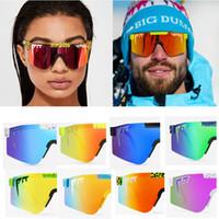 2020 핑크 새로운 고품질 대형 선글라스 편광 된 미러 레드 렌즈 TR90 프레임 UV400 보호 남성 스포츠 구덩이 바이퍼