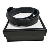 Migliori Cinture nuovo modo qualità degli uomini Business Casual Vera Pelle Cintura con fibbia automatica maschio della cinghia per le donne la cinghia di vita con la scatola
