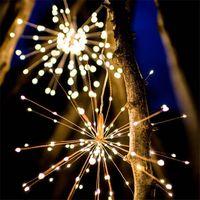 Feuerwerk-LED-Kupfer-Schnur-Licht Bouquet Form LED-Schnur-Licht-Batterie betrieben dekorative Leuchten mit Fernbedienung für Xms Partei