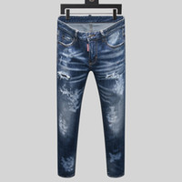 2020 New High quality Mens jeans Distressed Motorcycle biker...