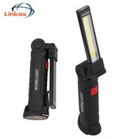 Taşınabilir Fenerler Esnek COB LED 5-Mod Kamp Çadır Lambası USB Şarj Edilebilir Torch Manyetik SOS Çalışma Işığı
