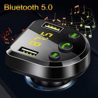 Wireless Vivavoce Bluetooth 5.0 Trasmettitore FM Mp3 Player rilevamento della tensione Dual USB Charger disc di sostegno U