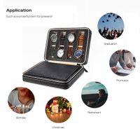 8 Yuva Taşınabilir İzle Kutusu Bavul Depolama Siyah PU Deri Takı Ekran Paketleme Bo