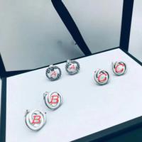 S925 Pendientes de plata esterlina Pendientes cortos Pendiente de plata Fashion Christmas Charm Charm Pendientes Pendientes de plata Pendientes de joyería