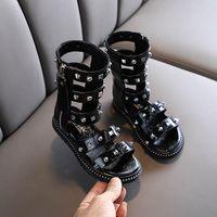 filles rivets mode des sandales spartiates enfants Chaussures enfants chaussures de marque chaussures filles sandales pour enfants de détail